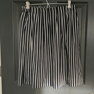 J.Crew navy and white striped skirt with pockets!